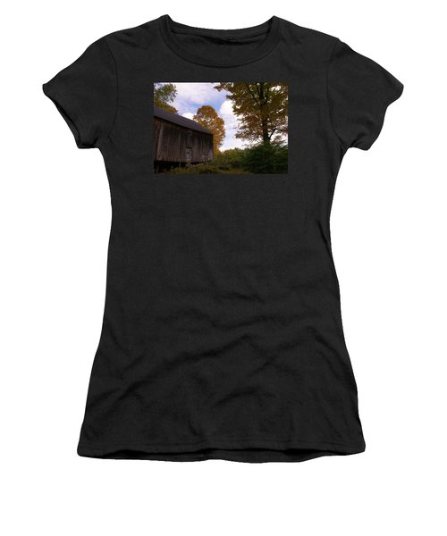Barn In Fall Women's T-Shirt (Athletic Fit)