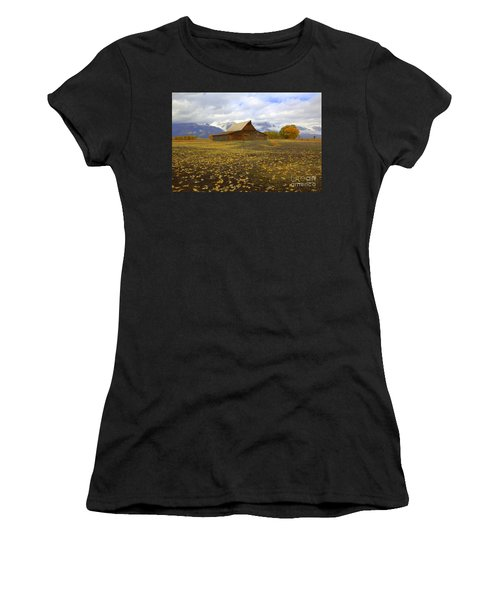 Barn On Mormon Row Utah Women's T-Shirt (Athletic Fit)