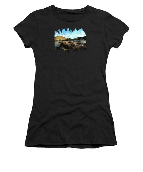 Women's T-Shirt featuring the photograph Barnacles On The Beach by Thom Zehrfeld
