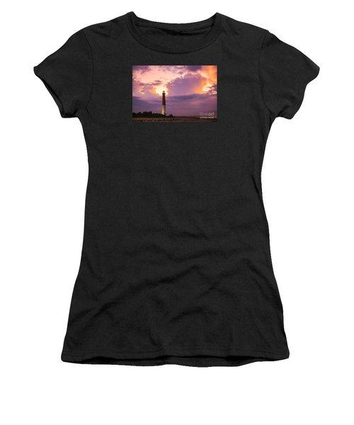 Barnegat Lighthouse Stormy Sunset Women's T-Shirt