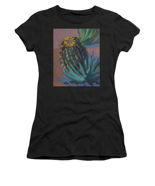 Barrel Cactus In Bloom - Boyce Thompson Arboretum Women's T-Shirt (Athletic Fit)