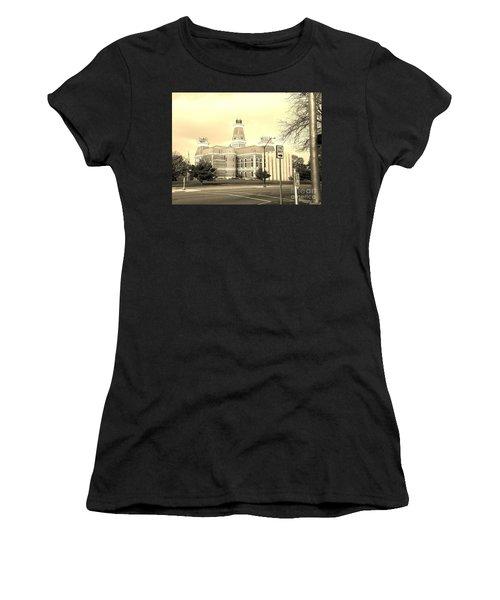 Bartholomew County Courthouse Columbus Indiana - Sepia Women's T-Shirt (Athletic Fit)