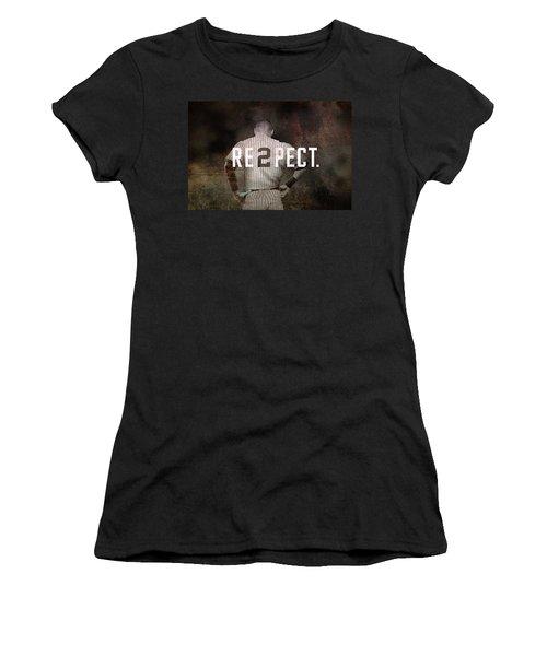 Baseball - Derek Jeter Women's T-Shirt (Junior Cut) by Joann Vitali