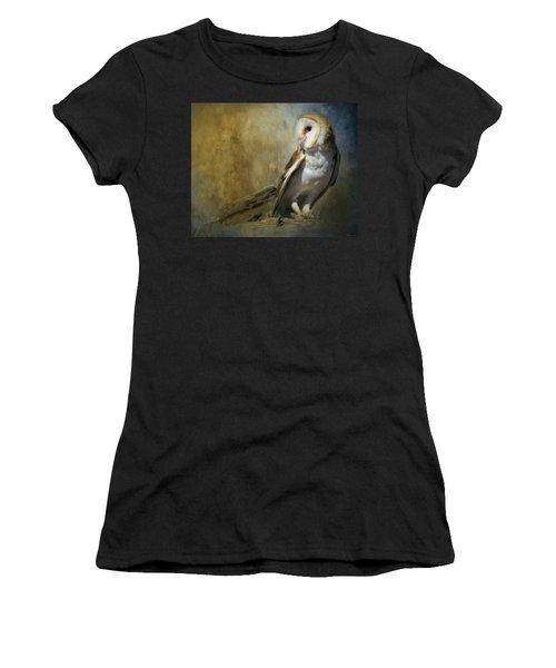 Bashful Barn Owl Women's T-Shirt