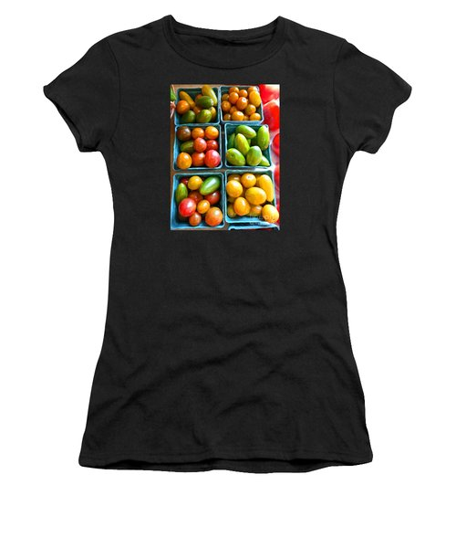 Baskets Of Baby Tomatoes Women's T-Shirt (Junior Cut) by Dee Flouton