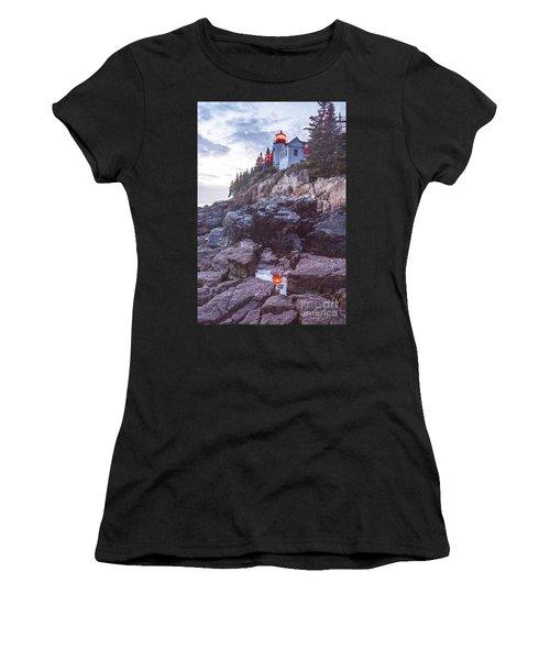 Bass Harbor Light Reflection Women's T-Shirt