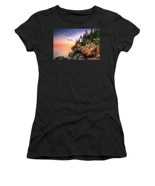 Bass Harbor Lighthouse Sunset Women's T-Shirt