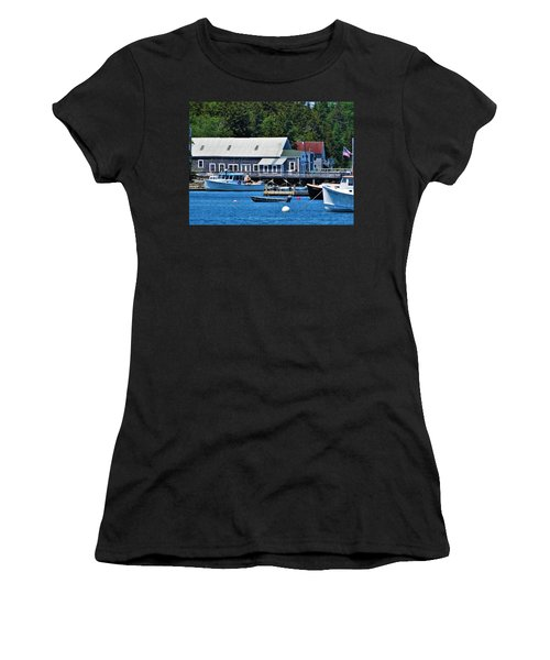 Bass Harbor Maine Women's T-Shirt (Athletic Fit)