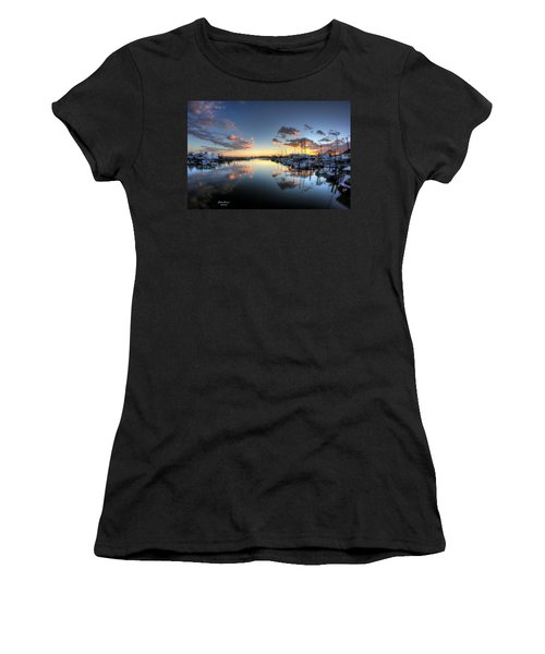 Bass Harbor Sunset Women's T-Shirt (Athletic Fit)
