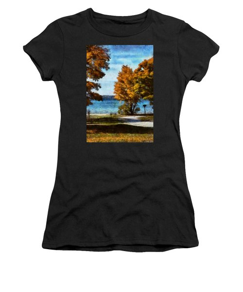 Bass Lake October Women's T-Shirt (Athletic Fit)
