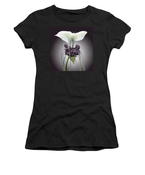 Women's T-Shirt (Athletic Fit) featuring the photograph Bat Plant by Denise Bird