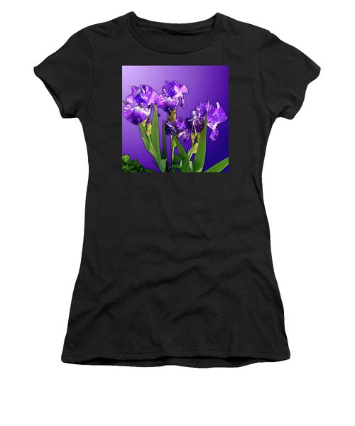 Batik Irises Women's T-Shirt (Athletic Fit)