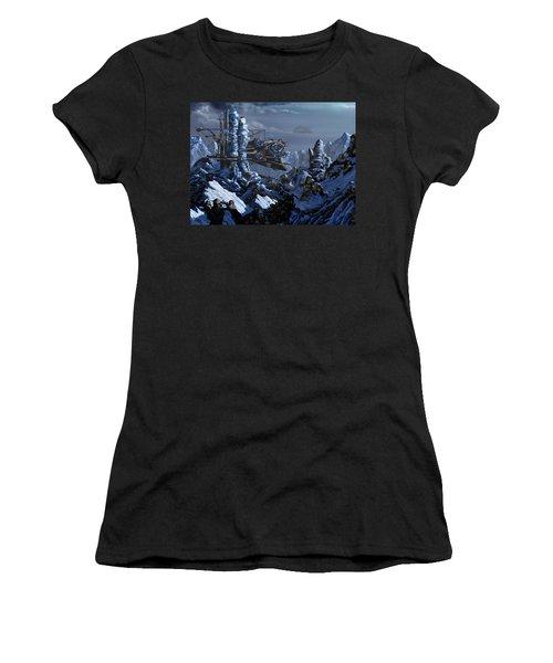 Women's T-Shirt (Junior Cut) featuring the digital art Battle Of Eagle's Peak by Curtiss Shaffer