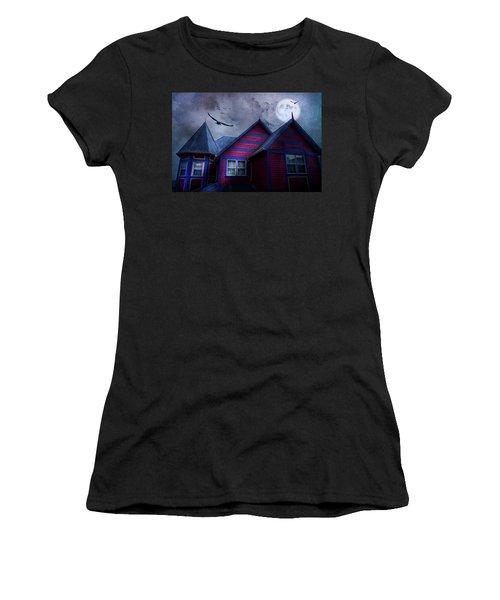 Women's T-Shirt (Junior Cut) featuring the photograph Battle Street West by Theresa Tahara