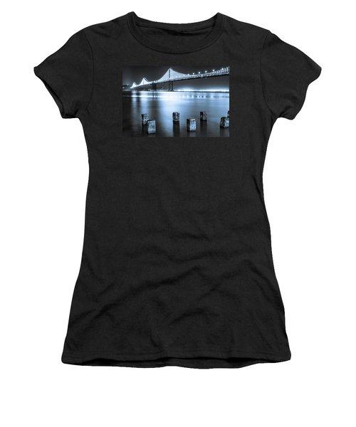 Bay Bridge 1 In Blue Women's T-Shirt