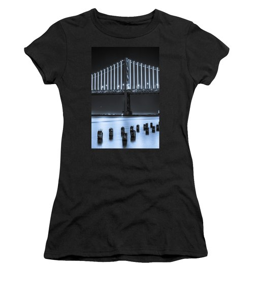 Bay Bridge 2 In Blue Women's T-Shirt (Athletic Fit)