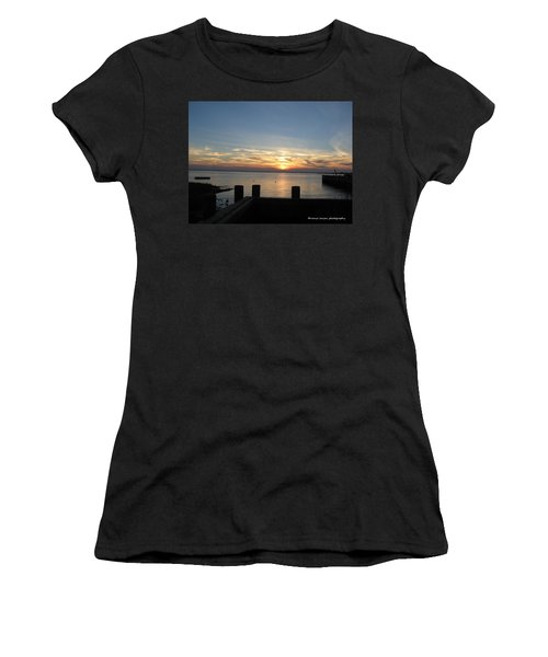 Bay Sunset Women's T-Shirt (Junior Cut) by Nance Larson