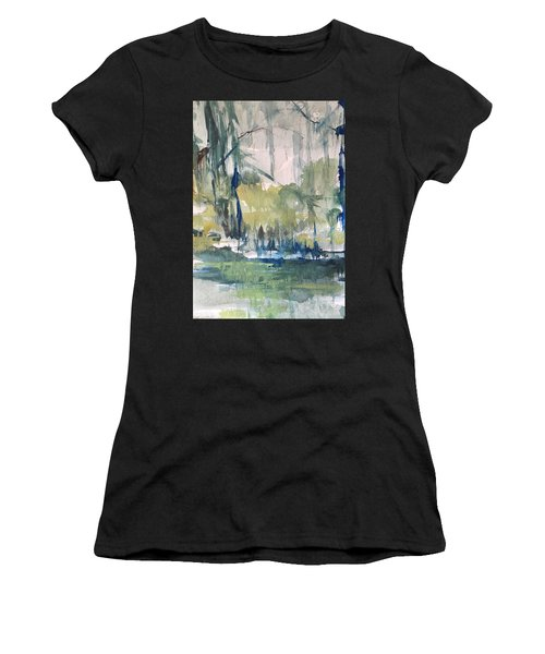 Bayou Blues Abstract Women's T-Shirt (Athletic Fit)