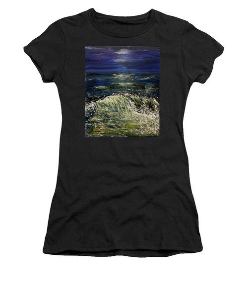 Beach At Night Women's T-Shirt