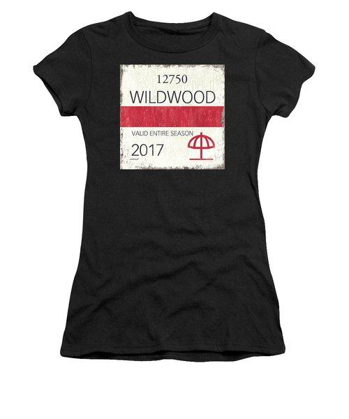 Beach Badge Wildwood 2 Women's T-Shirt
