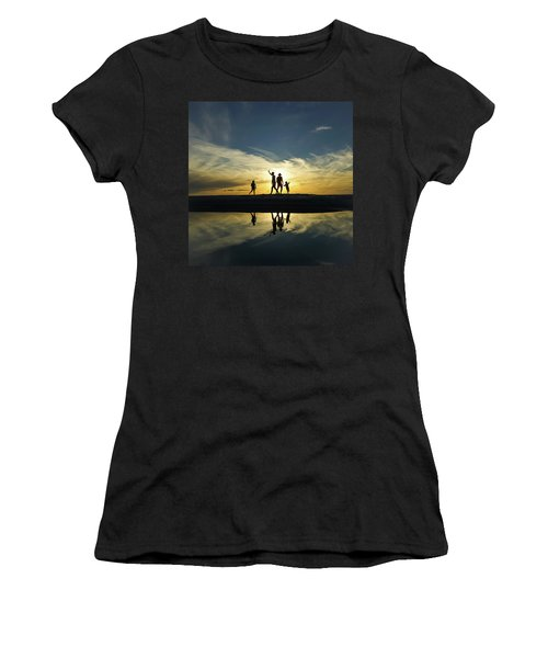 Beach Dancing At Sunset Women's T-Shirt