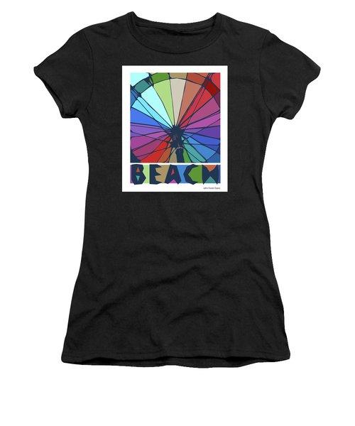 Beach Design By John Foster Dyess Women's T-Shirt (Athletic Fit)