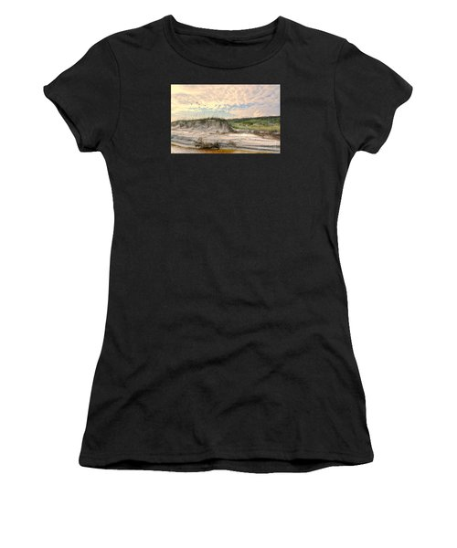 Beach Dunes And Gulls Women's T-Shirt (Athletic Fit)