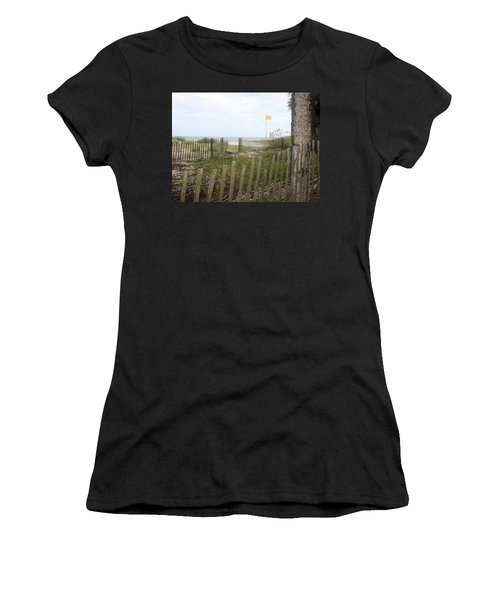 Beach Fence On Hunting Island Women's T-Shirt (Athletic Fit)