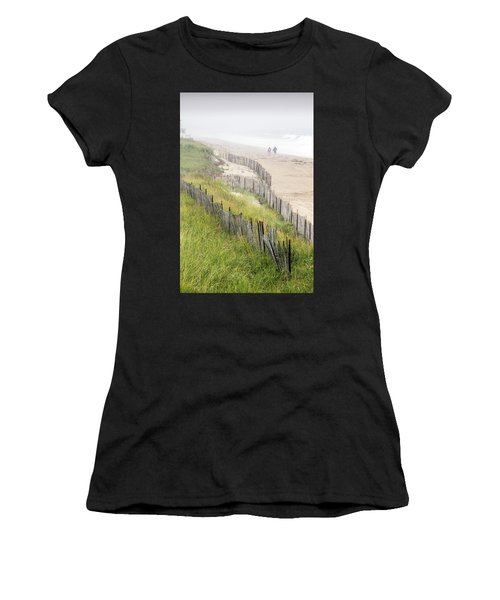 Beach Fences In A Storm Women's T-Shirt