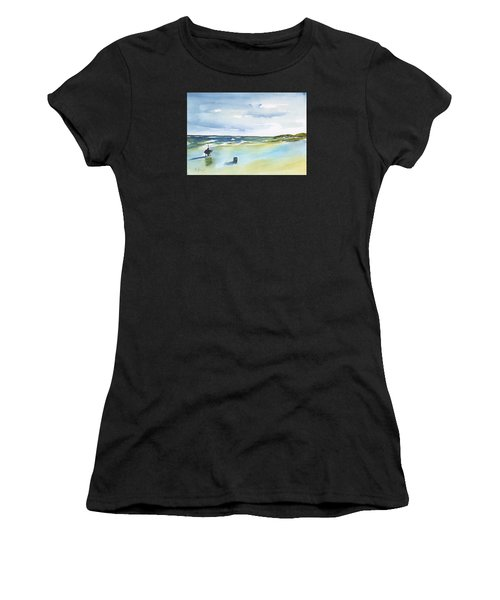 Beach Fishing Women's T-Shirt (Athletic Fit)
