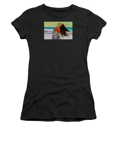 Beach Girl 1 Women's T-Shirt (Athletic Fit)