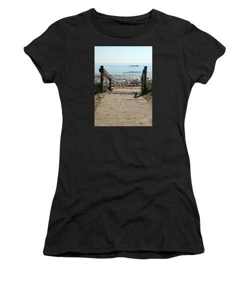Beach Path Women's T-Shirt (Athletic Fit)