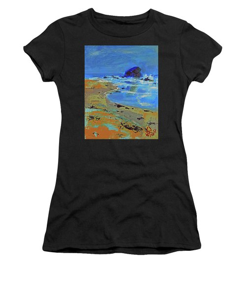 Beach Solitude Women's T-Shirt (Athletic Fit)