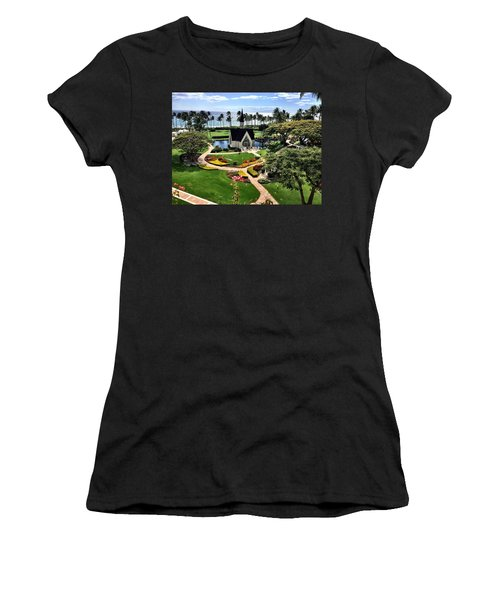 Beach Steeple Women's T-Shirt (Athletic Fit)