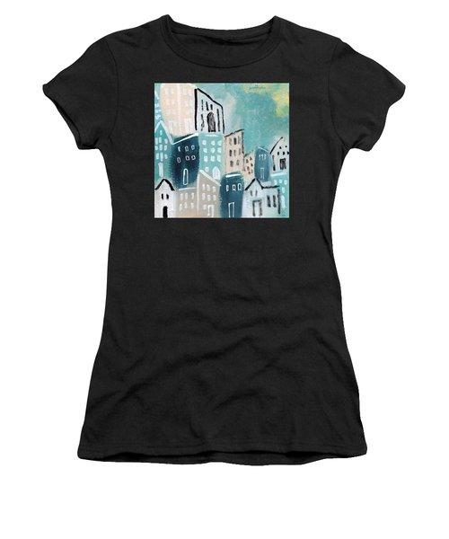Beach Town- Art By Linda Woods Women's T-Shirt