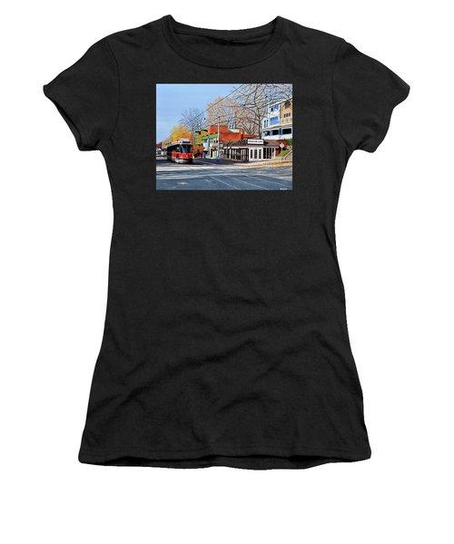 Beacher Cafe Women's T-Shirt (Athletic Fit)