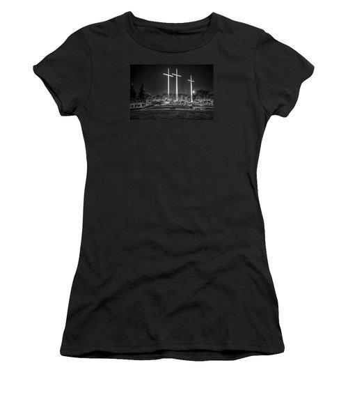 Bearing Witness In Black-and-white 2 Women's T-Shirt (Athletic Fit)