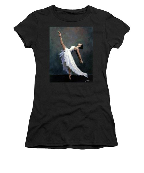 Women's T-Shirt (Junior Cut) featuring the painting Beautiful Dancer by Janet King