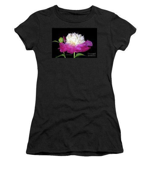 Beautiful Fancy Peony Women's T-Shirt (Athletic Fit)