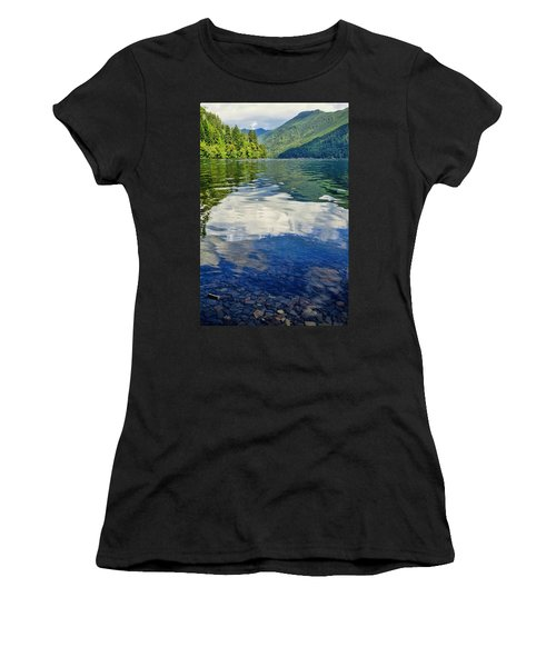 Women's T-Shirt (Athletic Fit) featuring the photograph Beautiful Lake Crescent Washington by Dan Sproul