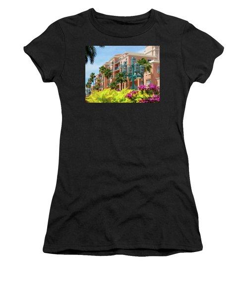 Beautiful Mizner Park In Boca Raton, Florida. #9 Women's T-Shirt (Athletic Fit)