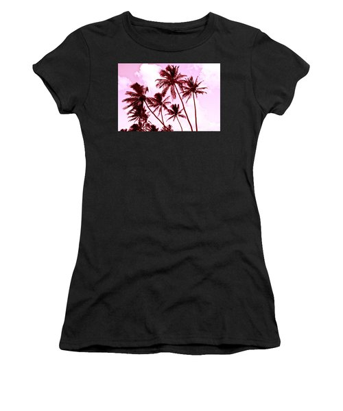 Beautiful Palms Of Maui 13 Women's T-Shirt (Athletic Fit)
