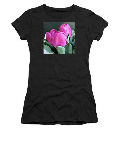 Beautiful Pink Lipstick Women's T-Shirt (Athletic Fit)