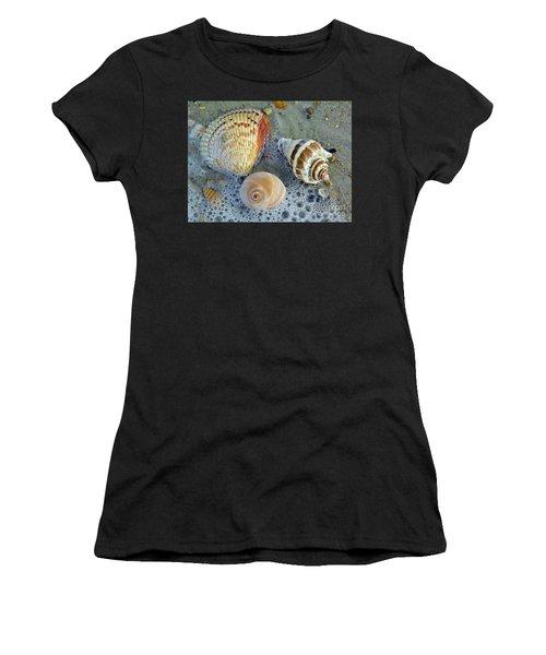 Beautiful Shells In The Surf Women's T-Shirt