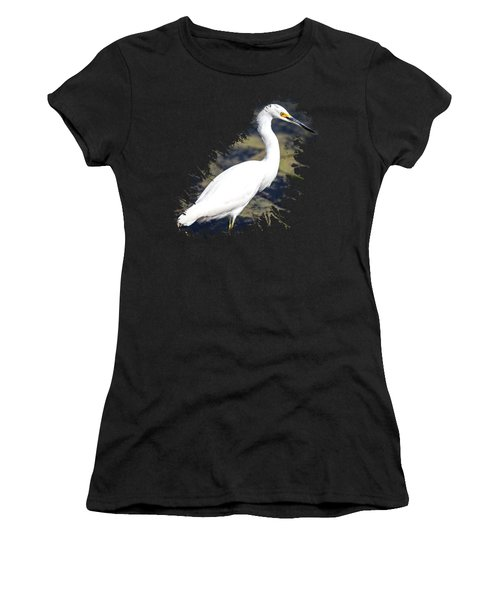 Women's T-Shirt featuring the photograph Beautiful Snowy Egret by David Millenheft