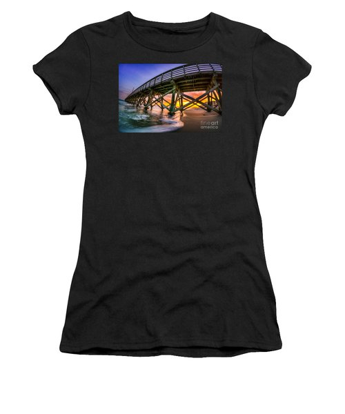 Beautiful Sunset In Myrtle Beach Women's T-Shirt (Athletic Fit)