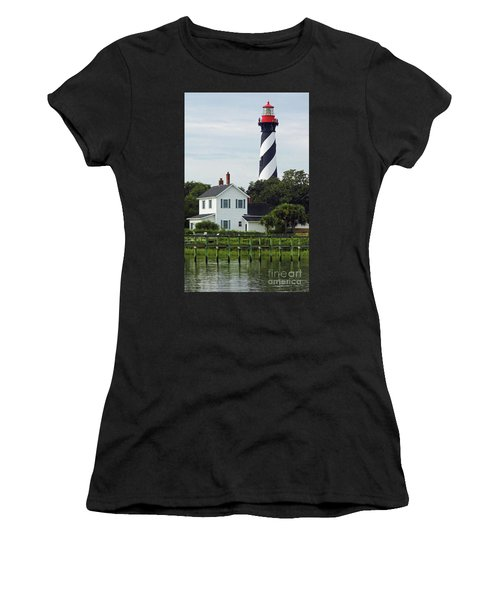 Beautiful Waterfront Lighthouse Women's T-Shirt (Athletic Fit)