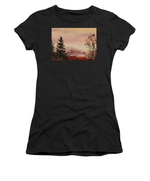 Women's T-Shirt (Junior Cut) featuring the painting Beauty At The Shore by James Williamson