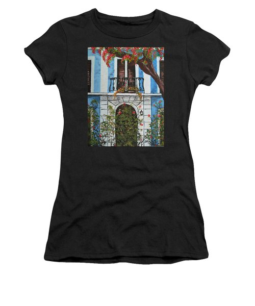 Beauty In Old San Juan Women's T-Shirt (Athletic Fit)