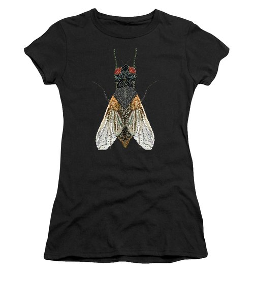 Bedazzled Housefly Transparent Background Women's T-Shirt